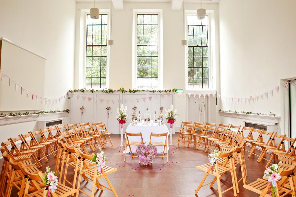 Spielman Centre set up for a wedding